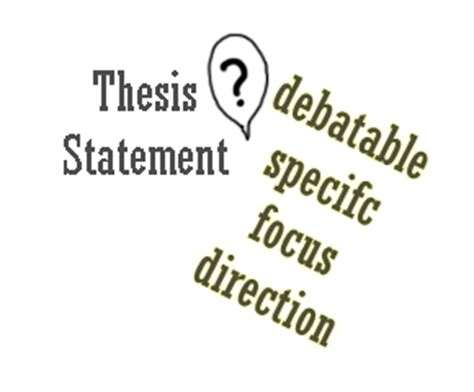 Thesis statement of education